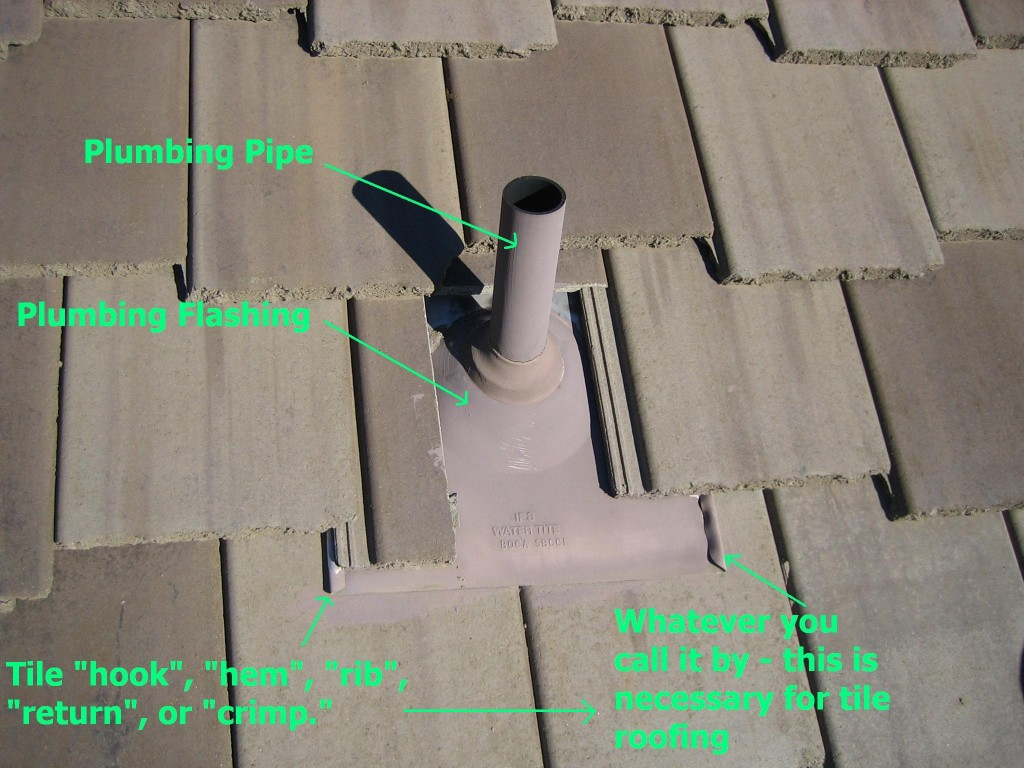 plumbingflashing with crimp